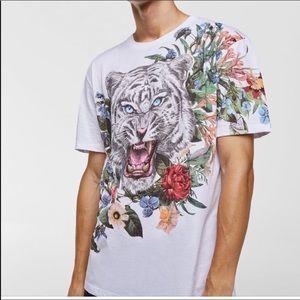 Zara 2019 tiger print T-shirt